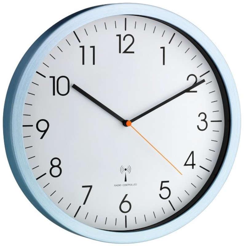 t603517 1xlr6 tfa horloge murale radiopilot e silencieuse mouvement sweep. Black Bedroom Furniture Sets. Home Design Ideas