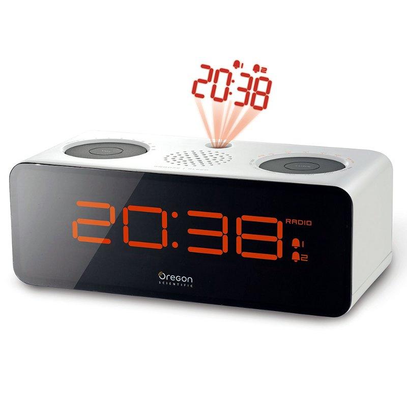 os rra320 p oregon scientific radio r veil avec double alarme et projection de l heure au plafond. Black Bedroom Furniture Sets. Home Design Ideas