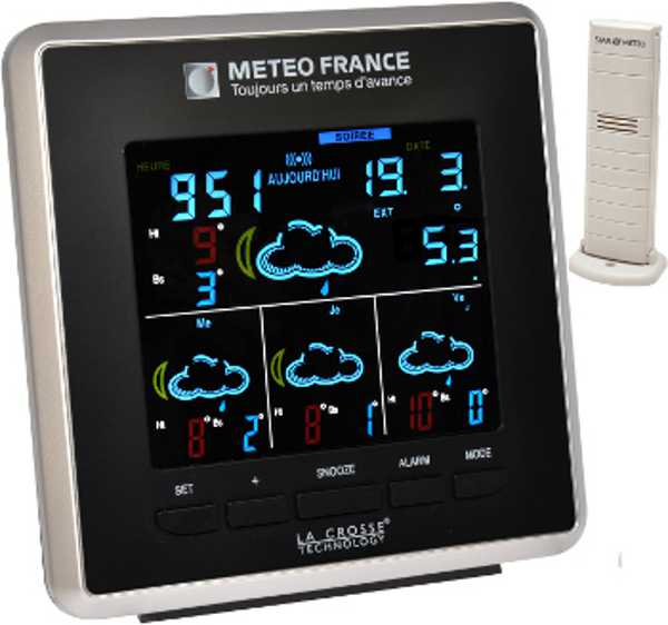 Wd4025 la crosse technology station m t o meteo france - Station meteo couleur ...