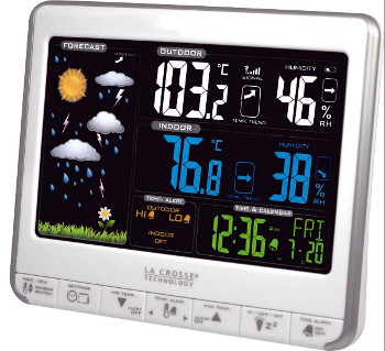 Ws6826 la crosse technology station m t o thermo hygro lcd - Station meteo couleur ...