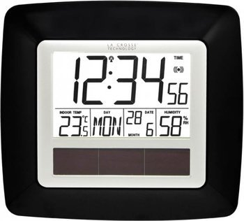 ws8112 la crosse technology horloge murale radio pilot e solaire. Black Bedroom Furniture Sets. Home Design Ideas